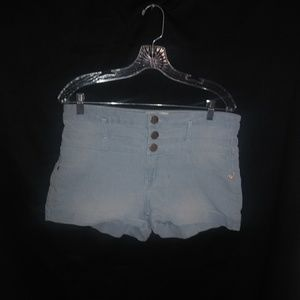 Super Light Blue Jean Shorts 15 Plus